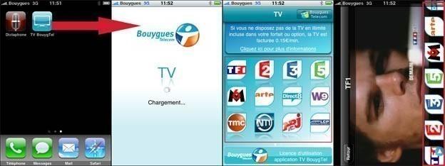la tv sur iphone avec bouygues 3
