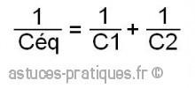 le condensateur association en serie et parallele 0