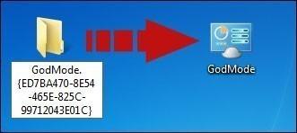 Le godmode ou panneau de configuration en mode expert sur windows 7