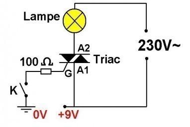 le triac schemas simples de commande 1