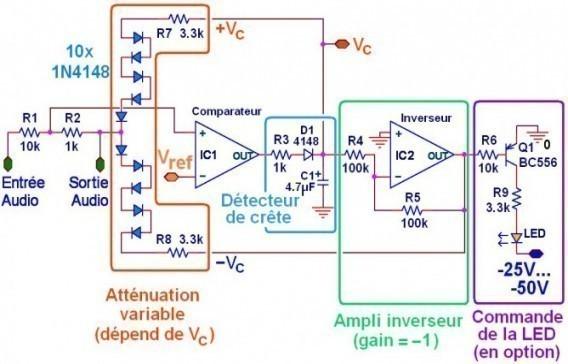 limiteur de puissance audio schema simple 4