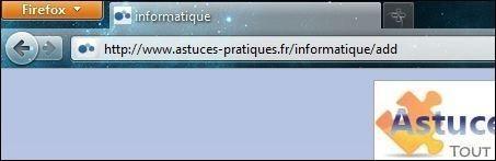 Mettre la barre des onglets sous la barre de navigation sur Firefox 4