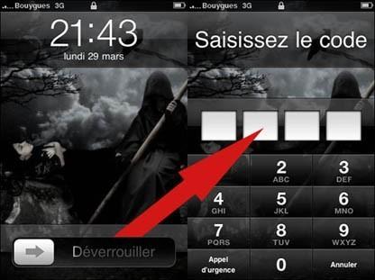mettre un code de verouillage sur iphone 2
