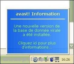 Mise à jour de l'ancienne version Avast