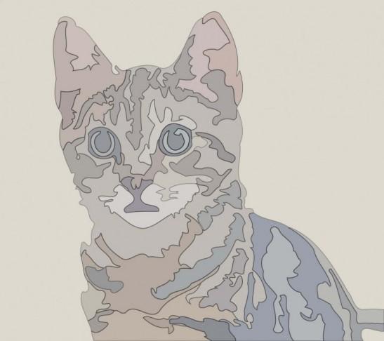 Modèle de marqueterie: le chat / Marquetry pattern: the cat