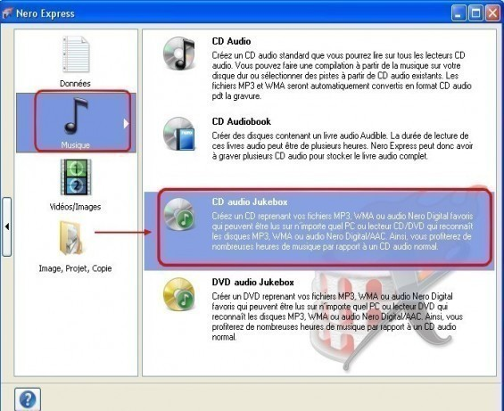nero express creer un cd mp3 1