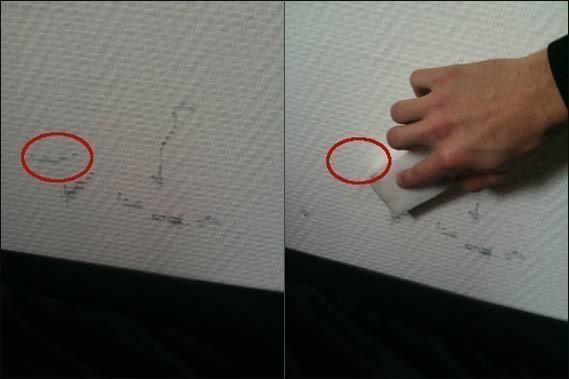 nettoyer des traces sur les murs blanc et clairs 1