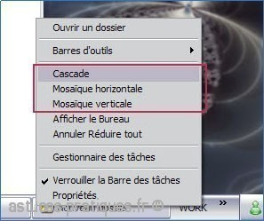 Organisation des fenêtres sur xp