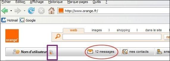 messagerie orange mails recus