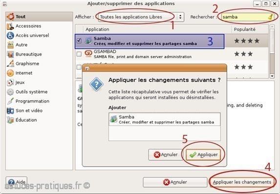 partage de fichiers de linux vers windows 1