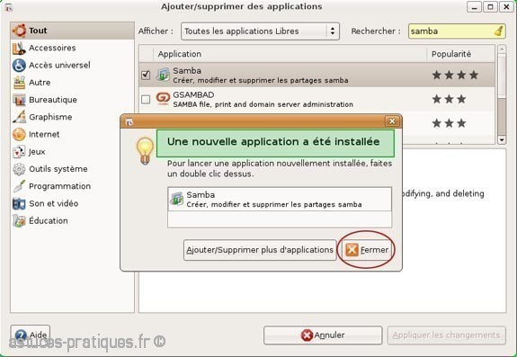 partage de fichiers de linux vers windows 2