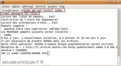 Partage de fichiers de linux vers windows