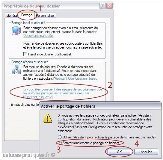 partage de fichiers sur xp 0
