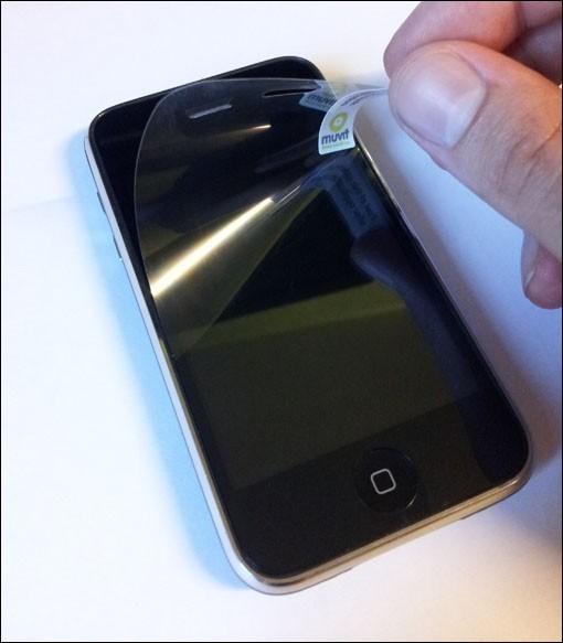 poser un film protection ecran telephone 4