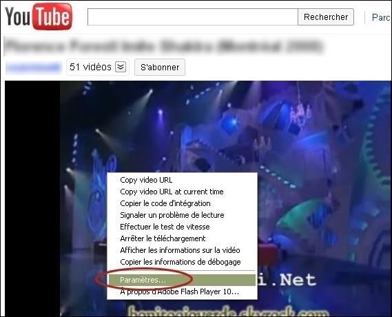 Problème d'affichage video en plein écran sur internet