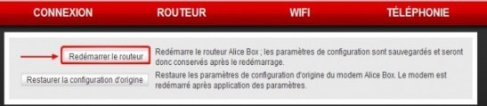 redemarrer sa alice box 1