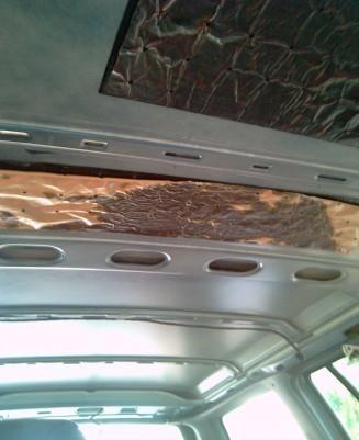 reparer et remplacer le toit interieur sur opel astra break 1992 4
