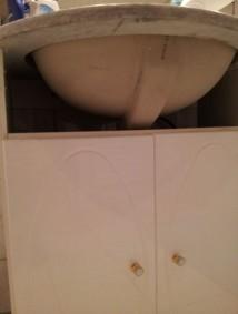 réparer un cache vasque