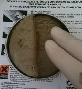 reparer un pot d echappement troue 3