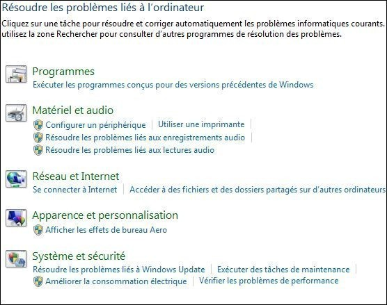 resoudre vos problemes automatiquement windows seven 1