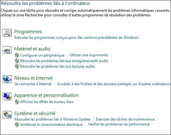 resoudre vos problemes automatiquement windows seven 1
