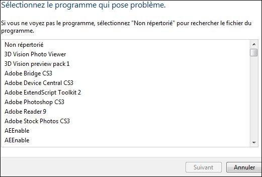 resoudre vos problemes automatiquement windows seven 3