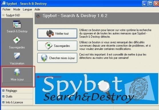spybot mise a jour manuelle 2