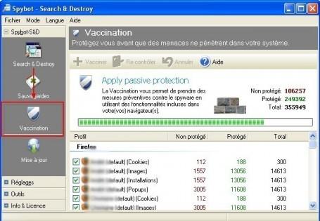 spybot vaccination des navigateurs internet contre les logiciels espions 2