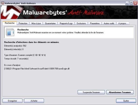supprimer et se debarasser de microsoft security essentials alert 5