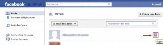 supprimer un ami sur facebook 2