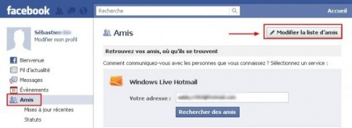Supprimer un Ami sur Facebook