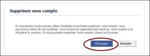 supprimer un compte facebook 1