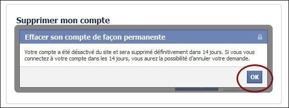 supprimer un compte facebook 2