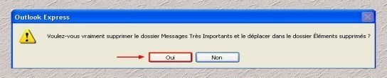 supprimer un dossier local sous outlook express 1