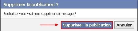 supprimer un element de votre mur d actualites facebook 1