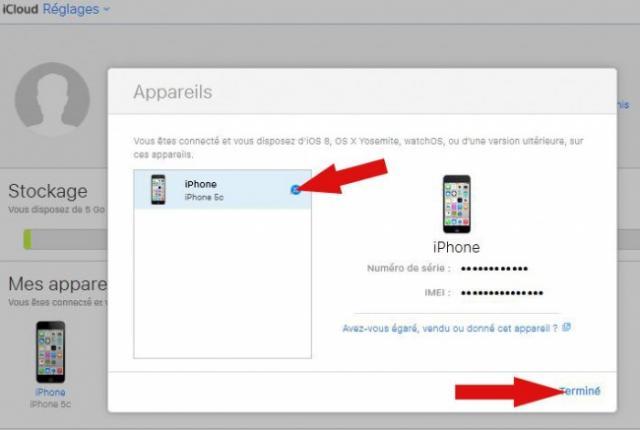 supprimer un iphone de icloud 4