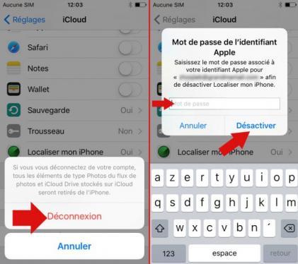 supprimer un iphone de icloud 8