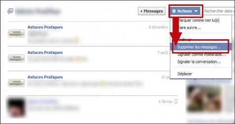 supprimer un message dans une conversation facebook 2