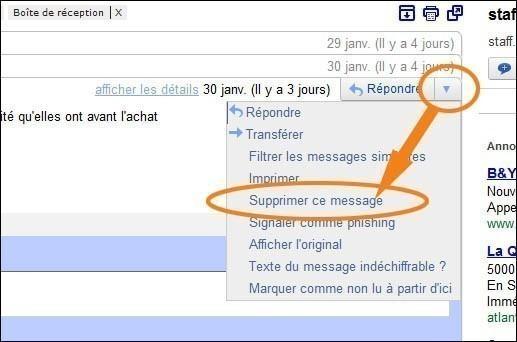 supprimer un seul mail d'une conversation gmail