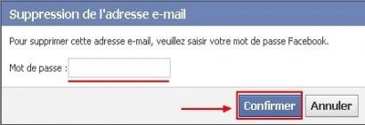 supprimer une adresse email sur facebook 3