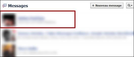 supprimer une conversation facebook 1