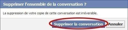 supprimer une conversation facebook 4