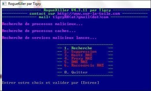 supprimer windows recovery avec roguekiller 2