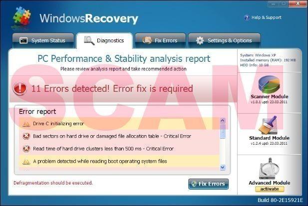 Supprimer Windows Recovery avec RogueKiller