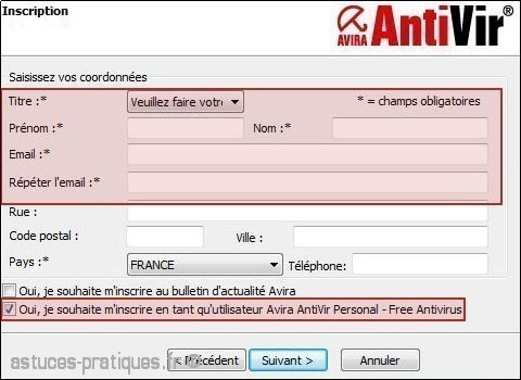 telechargement et installation antivir 2