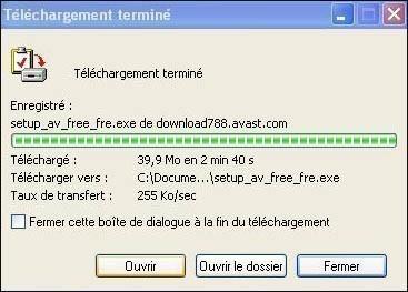telecharger et installer l antivirus avast 5