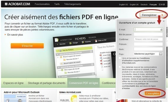 transformer un document word en pdf a partir du site acrobat com 2