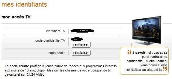 trouver ses identifiants tv orange 3