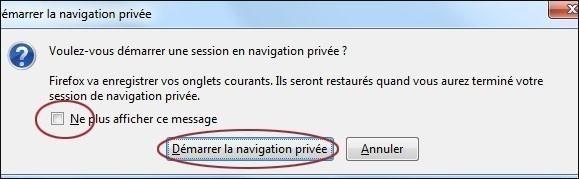 utiliser la navigation privee de firefox 3 1