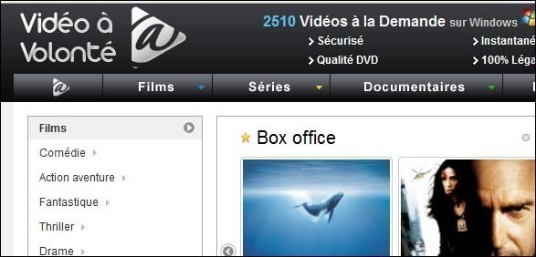 Vidéo à la demande streaming légale